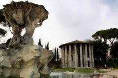 罗马寺庙vesta 免版税库存图片