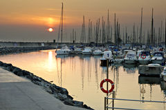 罗马小游艇船坞(意大利) 库存图片