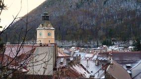 罗马尼亚中世纪镇布拉索夫看法从观点 股票录像