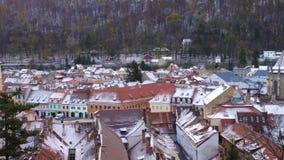 罗马尼亚中世纪镇布拉索夫看法  股票录像