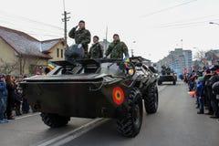 罗马尼亚人国庆节军事游行坦克军队vehicule 免版税库存图片