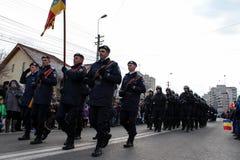 罗马尼亚人国庆节军事游行步兵 免版税库存图片