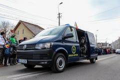 罗马尼亚人国庆节军事游行狙击手 免版税库存图片