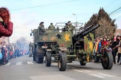 罗马尼亚人国庆节军事游行 免版税库存照片