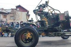 罗马尼亚人国庆节军事游行 免版税图库摄影