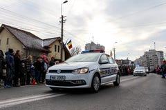 罗马尼亚人国庆节军事游行vehicule 免版税库存照片