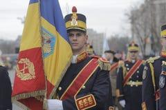 罗马尼亚人国庆节游行的重复 库存照片