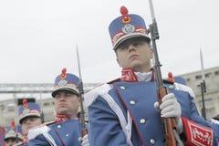 罗马尼亚人国庆节游行的重复 免版税图库摄影