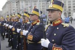 罗马尼亚人国庆节游行的重复 免版税库存图片