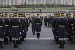罗马尼亚人国庆节游行的重复 图库摄影