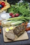 罗马尼亚人复活节食物- Drob 免版税库存照片
