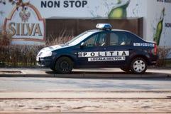 罗马尼亚人当地警察汽车 库存照片