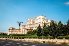 罗马尼亚人民宫在布加勒斯特,罗马尼亚的首都 库存照片