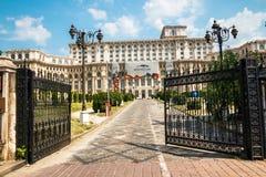 罗马尼亚人民宫在布加勒斯特,罗马尼亚的首都 免版税库存图片