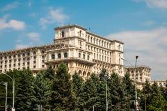 罗马尼亚人民宫在布加勒斯特,罗马尼亚的首都 图库摄影