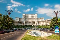 罗马尼亚人民宫在布加勒斯特,罗马尼亚的首都 库存图片