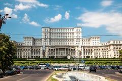 罗马尼亚人民宫在布加勒斯特,罗马尼亚的首都 免版税库存照片