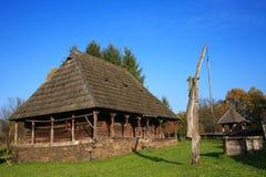 罗马尼亚传统村庄 库存照片