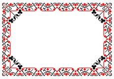 罗马尼亚传统框架 免版税图库摄影