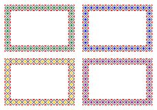 罗马尼亚传统框架 库存例证