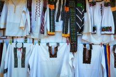 罗马尼亚传统衣裳 免版税库存照片