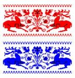 罗马尼亚传统地毯题材 皇族释放例证