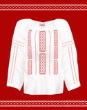 罗马尼亚传统女衬衫 库存图片