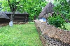 罗马尼亚传统村庄 免版税库存照片