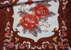 罗马尼亚传统毯子 免版税库存图片