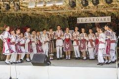 罗马尼亚传统舞蹈 免版税图库摄影