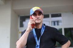 罗马尼亚体操运动员玛丽亚德勒古列斯库 库存图片