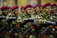 罗马尼亚军事游行 免版税库存照片