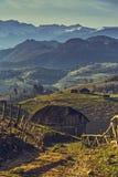罗马尼亚农村场面 库存照片
