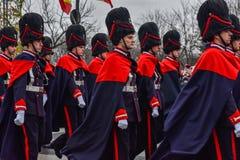 罗马尼亚国庆节, 2017年12月1日 免版税图库摄影