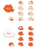 罗马尼亚地图2 免版税库存图片