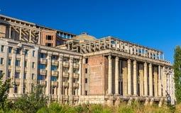 罗马尼亚学院宫殿的未完成的部分 免版税库存照片