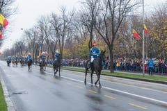 罗马尼亚宪兵队马骑术 免版税图库摄影