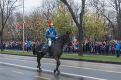 罗马尼亚宪兵队马骑术 库存图片