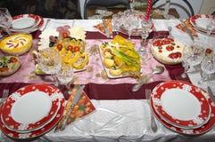 罗马尼亚家庭做的食物 免版税库存照片