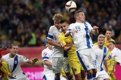 罗马尼亚对芬兰 免版税图库摄影