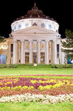 罗马尼亚庙在晚上之前 库存照片