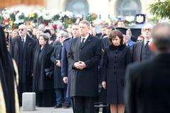 罗马尼亚总统克劳斯Iohannis和他的妻子Carmnen 库存照片