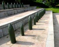 罗马尼亚战士的纪念品在Marasesti Mausoluem 库存照片