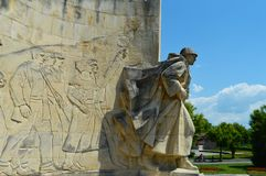 罗马尼亚战士纪念碑在巴亚马雷 免版税库存照片