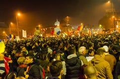 罗马尼亚抗议05/11/2015 图库摄影