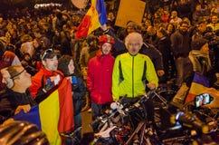 罗马尼亚抗议05/11/2015 免版税库存照片