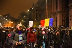 罗马尼亚抗议29/01/2017 库存照片