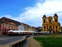 02罗马尼亚方形timisoara联盟 免版税库存照片