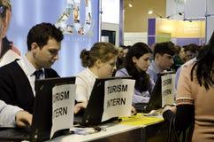 公平罗马尼亚的旅游业 免版税库存图片