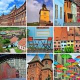 罗马尼亚旅行拼贴画 图库摄影